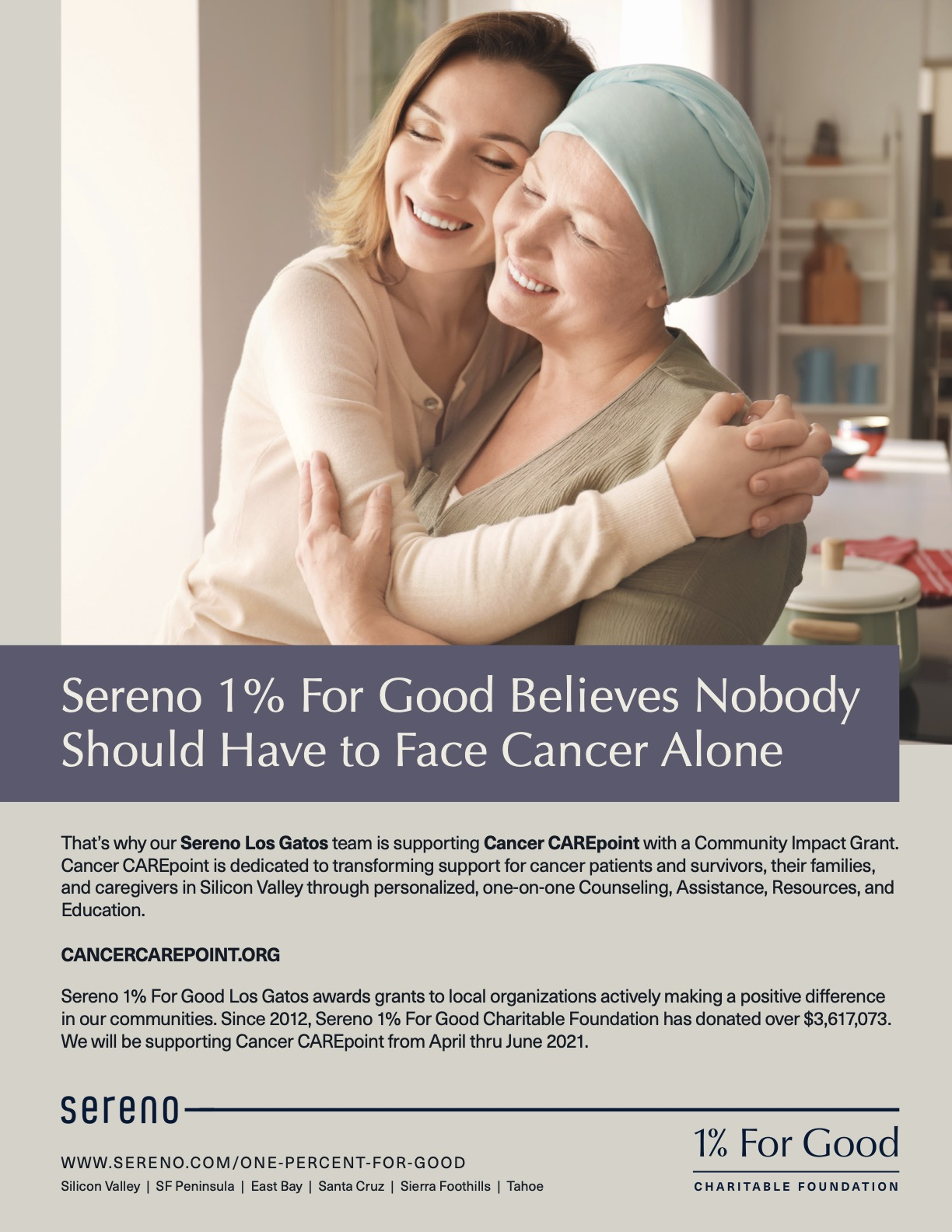 Sereno_OnePercent_LG_Cancer CAREPoint_Flyer