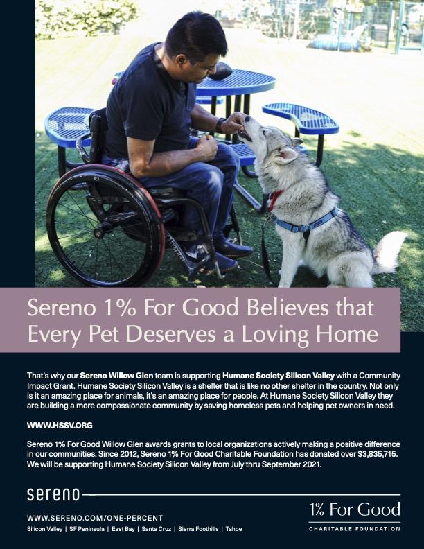 Sereno_OnePercent_WG_Humane Society Silicon Valley_Flyer